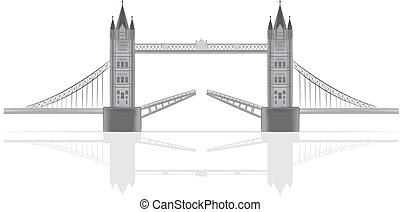 Ilustración del vector del puente