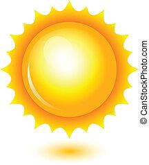 Ilustración del vector del sol brillante