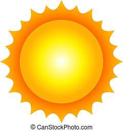 Ilustración del vector del sol