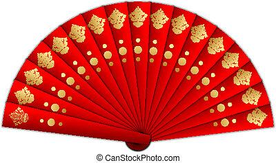 Ilustración del vector del ventilador rojo