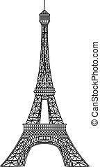 Ilustración del vector Eiffel