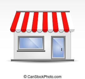 Ilustración del vector frente a la tienda