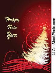 Ilustración del vector para el año nuevo