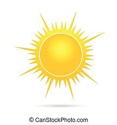 Ilustración del vector solar en la primera parte amarilla