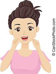 Ilustración dental adolescente