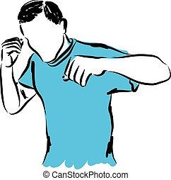 Ilustración deportiva adecuada