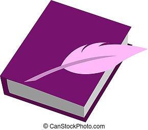 ilustración, diario, blanco, vector, fondo.