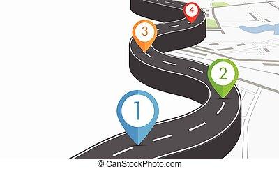 Ilustración en la carretera