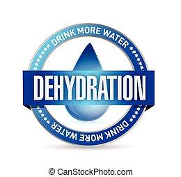 ilustración, estampilla, deshidratación