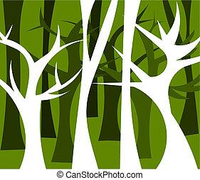 Ilustración forestal