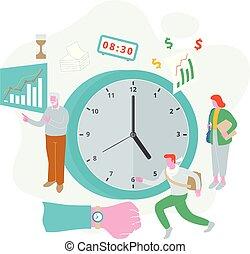 ilustración, gerencia de tiempo