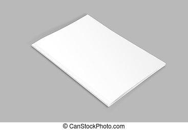 /, ilustración, gris, mockup, plano de fondo, cubierta, blanco, blanco, revista, folleto