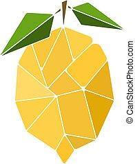 ilustración, limón, resumen, vector