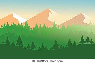 ilustración, moderno, vector, naturaleza