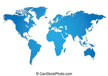Ilustración mundial de mapas