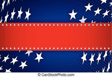 Ilustración patriótica roja, blanca y azul