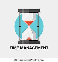 Ilustración plana de gestión del tiempo