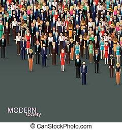 Ilustración plana del vector de negocios o comunidad política. Cuervo
