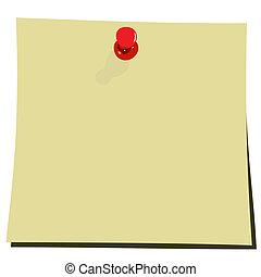 Ilustración realista de anotaciones amarillas