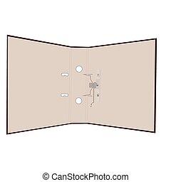Ilustración realista de la carpeta abierta
