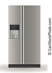 ilustración, refrigerador