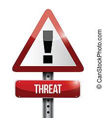 ilustración, señal, advertencia, diseño, amenaza, camino