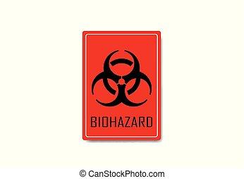ilustración, señal, vector, biohazard