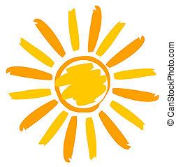 Ilustración solar pintada