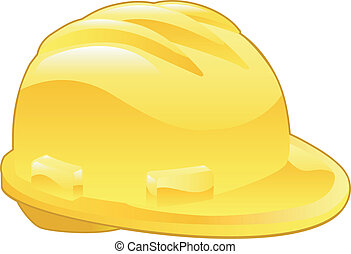 ilustración, sombrero, amarillo, duro, brillante