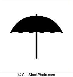 ilustración, vector, paraguas, blanco, fondo.