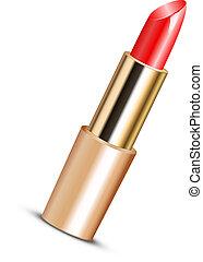 Ilustración vectora de lápiz labial rojo