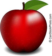 Ilustración vectora de manzana roja