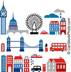 Ilustración vectora de marcas de london