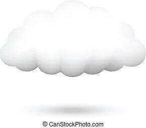 Ilustración vectora de nubes