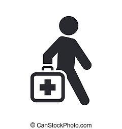 Ilustración vectora de un único icono médico aislado