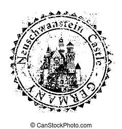 Ilustración vectora del icono único de Alemania