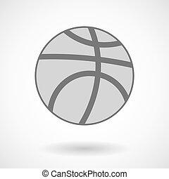 Ilustración vectorial aislada de una pelota de baloncesto