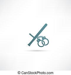 Ilustración vectorial de icono policial moderno aislado.