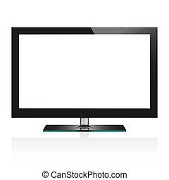 Ilustración vectorial de pantalla plana de TV