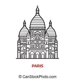 Ilustración vectorial de París