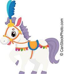 Ilustración vectorial de un caballo de circo