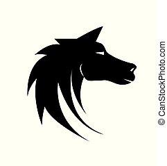 Ilustración vectorial de un caballo