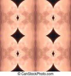 Ilustración vectorial de un carv marrón