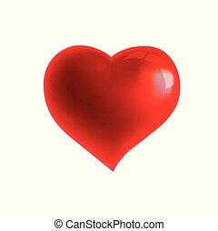 Ilustración vectorial de un corazón rojo.