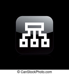 Ilustración vectorial de un icono aislado