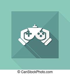 Ilustración vectorial de un icono aislado de videojuegos