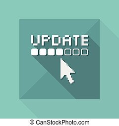Ilustración vectorial de un icono de actualización aislado