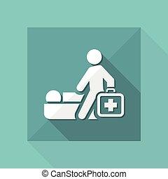 Ilustración vectorial de un icono médico aislado