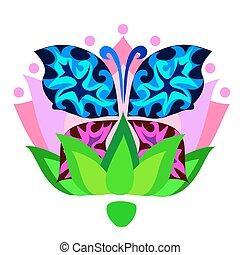Ilustración vectorial de una mariposa