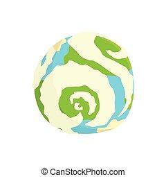 Ilustración vectorial del planeta Tierra